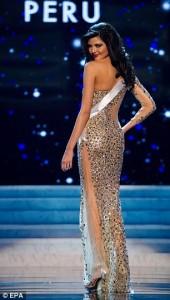 Miss Peru Universe 2012 - Nicole Faveron. Photo by Miss Universe Organization.