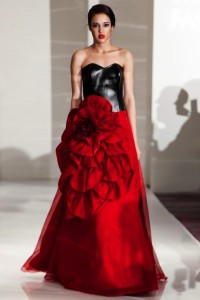 Original Kate Walz gown on the runway at New York Fashion Week.