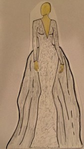 Gown sketch for Miss Nevada USA 2015